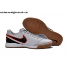 wholesale Nike Tiempo Mystic V IC White Black Mens Indoor Cleats