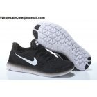 wholesale Mens & Womens Nike Free RN Black White Running Shoes