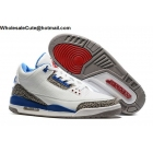 wholesale Nike Air Jordan 3 True Blue White Mens Basketball Shoes