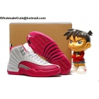 wholesale Air Jordan 12 GS VALENTINE'S DAY Pink Womens Shoes