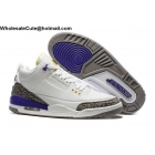 wholesale Nike Air Jordan 3 Kobe Bryant Laker White Purple Yellow