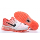 wholesale Nike Air Max 2017 White Orange Black Womens Running Shoes