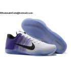 wholesale Nike Kobe 11 Flyknit White Purple Black