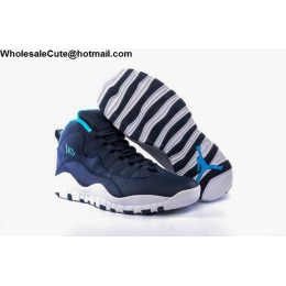 Air Jordan 10 Los Angeles Navy Blue White
