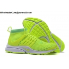 wholesale Nike Air Presto Ultra Flyknit Volt White Mens Running Shoes