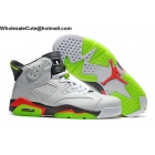 wholesale Air Jordan 6 White Hasta Green Mango