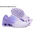 wholesale Womens Nike Shox Deliver White Purple Running Shoes