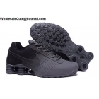 Mens Nike Shox Deliver Black Grey Running Shoes
