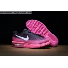 wholesale Womens Nike Air Max Sequen Black Pink Running Shoes