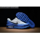 wholesale Nike Air Max Sequen White Blue Mens Running Shoes