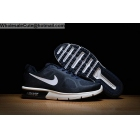 wholesale Nike Air Max Sequen Navy Blue White Mens Running Shoes