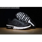 wholesale Nike Air Max Sequen Black White Mens Running Shoes