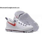 wholesale Nike Zoom KD 9 Premiere USA White Red