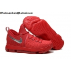 wholesale Nike Zoom KD 9 Red Silver Mens Basketball Shoes