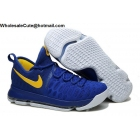 wholesale Nike KD 9 Warriors Blue Yellow Mens Basketball Shoes