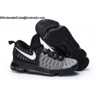 wholesale Nike KD 9 Mic Drop Black White Mens Basketball Shoes