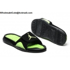 Jordan Hydro 4 Retro Black Green Slide Sandals Size US7 - US13