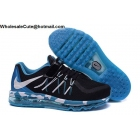 wholesale Velcro Kids Nike Air Max 2015 Black Blue Camo