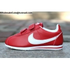 wholesale Kids Nike Cortez Red White Velcro Shoes
