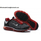 wholesale Mens & Womens Nike Air Max 2009 Flyknit Black White Red
