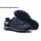 wholesale Mens & Womens Nike Air Max 2009 Flyknit Black White Blue