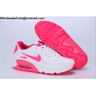 wholesale Womens Nike Air Max 90 White Pink Running Shoes