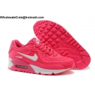 wholesale Womens Nike Air Max 90 Pink White Running Shoes