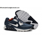 wholesale Nike Air Max 90 Navy Blue White Mens Running Shoes
