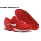 Mens & Womens Nike Air Max 90 Red White Running Shoes