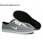 wholesale Nike SB Portmore White Black Mens Canvas Skateboarding Shoes