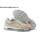 wholesale Supreme Nike Air Max 98 Snakeskin Mens Running Shoes