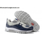 wholesale Supreme Nike Air Max 98 Navy Silver Mens Running Shoes