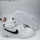 wholesale Mens & Womens Nike Air Force 1 High White Black AF1