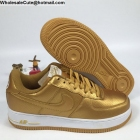 wholesale Mens & Womens Nike Air Force 1 Low Gold White AF1