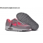 wholesale Womens Nike Air Max 90 Grey Pink White Running Shoes