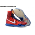 wholesale Nike Kobe 10 Elite High American Red