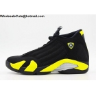 wholesale Air Jordan 14 Thunder Black Yellow Mens Basketball Shoes