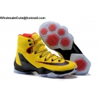 wholesale Nike LeBron 13 Elite Yellow Black Mens Basketball Shoes