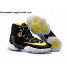 wholesale Mens Nike LeBron 13 Elite Black Yellow White