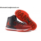 wholesale Air Jordan XXXI 31 BANNED Black Red Mens Basketball Shoes