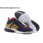 Mens Nike Air Presto Ultra Flyknit Navy Gold Red