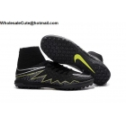 wholesale Mens Nike HypervenomX Proximo TF Black Volt Soccer Cleats