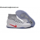 wholesale Mens & Womens Nike Hyperdunk 2016 Flyknit White Basketball Shoes