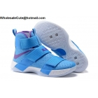wholesale Mens Nike Zoom LeBron Soldier 10 Blue Purple White