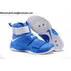 wholesale Mens Nike Zoom LeBron Soldier 10 Wildcats Team Blue White
