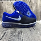 wholesale Mens Nike Air Max 2017 Flyknit Blue Black White