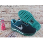 wholesale Mens Nike Air Max 2017 Flyknit Navy Jade Running Shoes