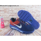wholesale Mens Nike Air Max 2017 Flyknit Dark Blue Orange
