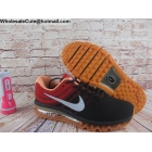 Mens Nike Air Max 2017 Flyknit Black Red Gum