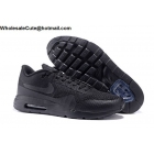 wholesale Mens & Womens Nike Air Max 1 Ultra Flyknit All Black Running Shoes